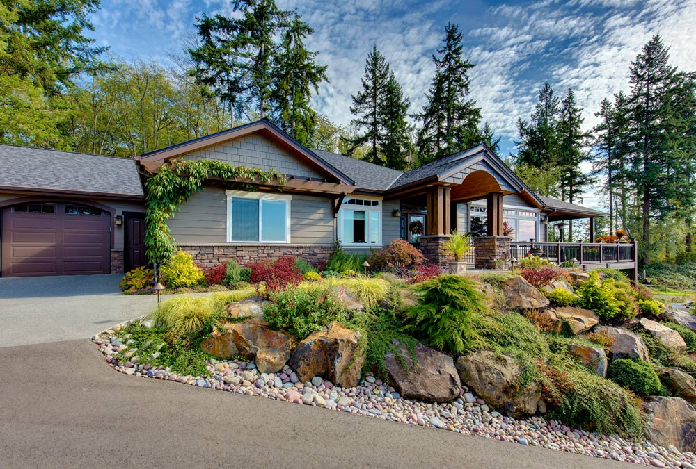 Poulsbo rambler with walk out basement kitsap trident homes for Beautiful rambler homes